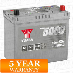 Car Battery YBX5053 Calcium Silver Case SMF SOCI 12V 450CCA 50Ah T1/T3 by Yuasa