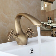 Modern Antique Brass Bathroom Sink Mixer Vessel Faucet Basin Tap Single Handle