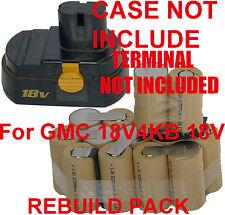 Battery Rebuild Pack For GMC C 18V4KB 18V 2.0Ah Ni-Cd NO CASE and TERMINALs OZ