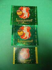 3 Vintage 1961 Narragansett Bock Beer Labels 12 & 16 Oz. Cranston Rhode Island