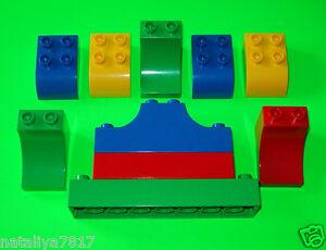 LEGO DUPLO STEINE ### 4 NOPPEN 10 STÜCK 2 REIHIG SONDERSTEINE ### =TOP!!!