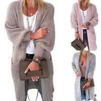 Women Knitted Sweater Coat Cardigan Casual Long Sleeve Loose Jacket Outwear Tops