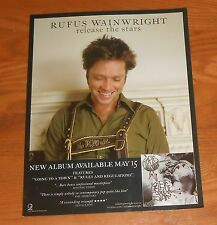 Rufus Wainwright Release the Stars Poster Flat Standup Display 2007 Promo 8x11