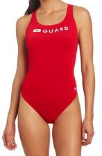 Speedo Guard Super Pro One Piece Swimsuit Red Size 36