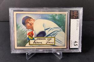 Topps Baseball 1952 - #81 - Vernon Law - Pittsburg Pirates - BVG 4.5