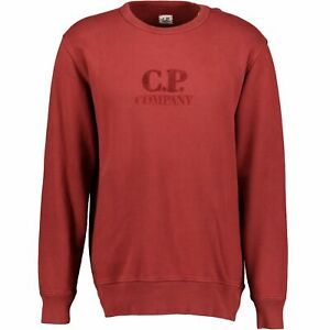 CP Company Red Diagonal Raised Jumper