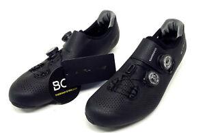 Shimano RC9 S-Phyre Carbon Road Bike Shoes, Black, US 9.7 / EU 44