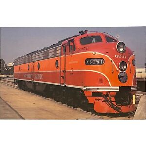 Postcard Locomotive, Southern Pacific's Number 6051