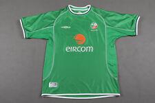 Umbro Republic of Ireland Home Eircom Football Shirt 2001 - 2003 Size L