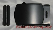 """NEW 1.5"""" WIDE CLASSIC ROLLER BLACK BELT BUCKLE with TIP ONLY Canvas Belts"""
