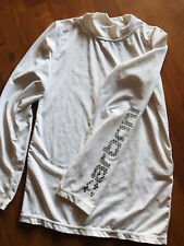 Carbrini Under Armour White Long Sleeved Sports Top Size 12-13 Yrs