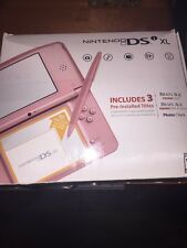 Nintendo DSi XL Metallic Rose Handheld Video Game Console System Bundle in Box
