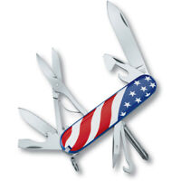 Victorinox Super Tinker Pocket Knife USA Flag Swiss Army Original 14 Functions