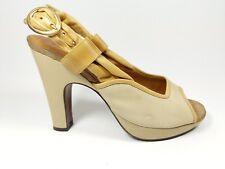 Chie Mihara creme Leder High Heel Slingback Schuhe UK 4 EU 37