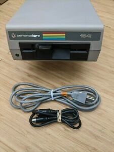 """Commodore 1541 5.25"""" Floppy Disk Drive & Cables Cleaned Aligned Tested Working"""