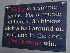 Simple Game Melbourne Footy Sign - Aussie Rules Bar Pub Office Shed Demons