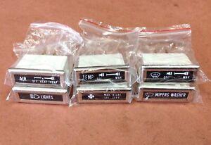 JEEP CJ5 CJ7 CJ8 DASH INDICATOR LAMP SET OF SIX 76-86 5752813K CROWN NEW! AMC
