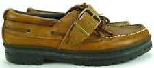 Polo Sport Ralph Lauren Boat Deck Shoes Brown Leather Casual Men's Size 8 B
