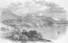 DUBROVNIK. Dalmatia. View from Rd between & Gravoso, antique print, 1870
