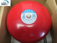 "MIRCOM BL-6A FIRE ALARM 24VDC AUDIBLE SIGNALING 6"" RED BELL *** NEW"