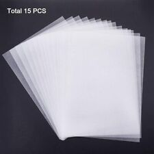 "15pcs 11x7.8"" Clear Frosted Shrinky Art Papers Heat Shrink Plastic Sheet Crafts"