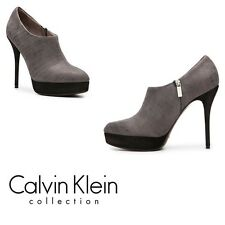 Calvin Klein Collection Dani Métallique Imprimé En Cuir Platform Bootie-UK 7