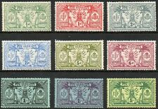 New Hebrides 1911 KGV Weapons & Idols set of mint stamps value to 5s Mint Hinged