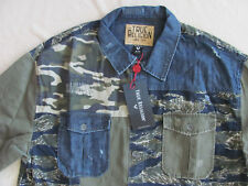 True Religion Patched Utility Shirt-Mix Territory-Blue/Green- Size XL-NWT $199