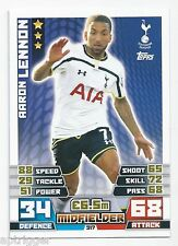 2014 / 2015 EPL Match Attax Base Card (317) Aaron LENNON Tottenham Hotspur