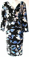 Ralph Lauren printed sheath cowl neck 3/4 sleeves stretch fabric sz 6 new