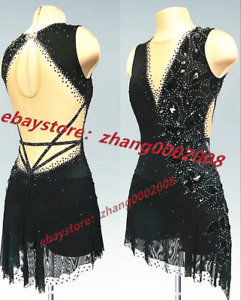 New Stylish Ice figure skating dress.Competition Dance Twirling Skating Costume