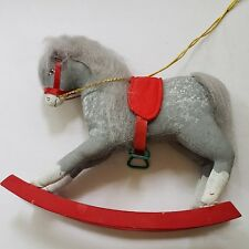 Vintage Gladys Boalt Handmade Soft Sculpture Christmas Ornament Rocking Horse