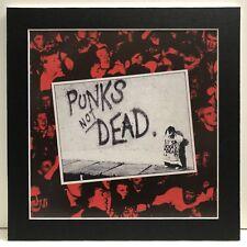 "The Exploited ""Punks not dead� Pro Matted Album Art, Punk Rock, 13�x13�"