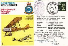 RAF24 60th Anniv of 7 Sqn. Signed Marshal of the RAF Sir Dermot Alexander BOYLE