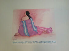 """RC GORMAN SIGNED Poster, """"MICHELLE"""" 1989  Size is 18"""" X 21 1/4"""""""