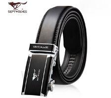 New- Men's Belts Genuine Classic Septwolves Fine black All Size