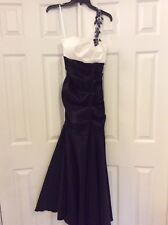 Black And White Mermaid Gown