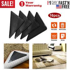4/8/16Pc Area Rug Gripper Pad Non Slip Anti Curling Carpet Mat Reusable Washable