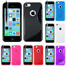 Accessoires Housse Coque Case TPU Silicone S Gel Soupe Apple Iphone 5C + Film