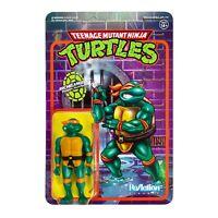 Michelangelo Teenage Mutant Nina Turtles TMNT 3 3/4 Inch ReAction Figur Super7
