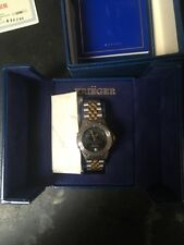 Ultra Rare Men's Swiss KRIEGER Lunar Chronometer Moon Phase Quartz Watch in Box