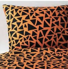 Ikea Gulltratt Single Duvet Set 1 Pillowcase Orange & Black, 150 x 200cm BNWT
