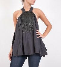 """Sass & Bide """"JUST LIKE THIS"""" vest top blouse  in charcoal"""