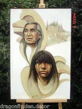 Original Oil Painting of Chief Dan George by Paul Ygartua Canadian Artist Signed