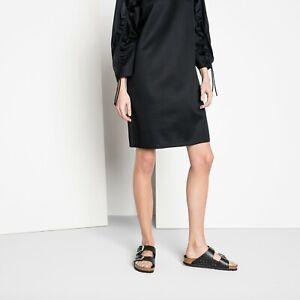 NWOB Birkenstock ARIZONA BIG BUCKLE Black Croco Embossed Leather Slide  Sandals9