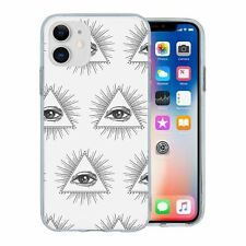 For Apple iPhone 11 Silicone Case Cool Abstract Eyes Pattern - S4314