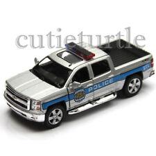 Kinsmart 2014 Chevrolet Silverado Pick Up Truck 1:46 KT5381DPR Police Car Silver