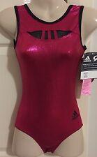*NEW* GK Adidas gymnastics leotard cherry AXS adult extra small + scrunchie NWT