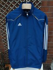 ADIDAS PREDATOR MENS SIZE SMALL BLUE & WHITE STRIPE CHAMPIONS LEAGUE JACKET