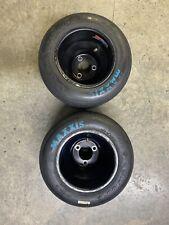go kart racing aluminum wheels and blue maxxis tires